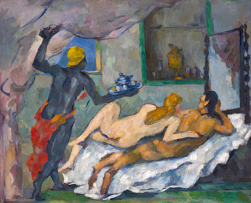 famous painting Afternoon in Naples of Paul Cezanne
