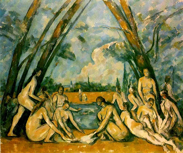 famous painting Large Bathers (Philadelphia) of Paul Cezanne