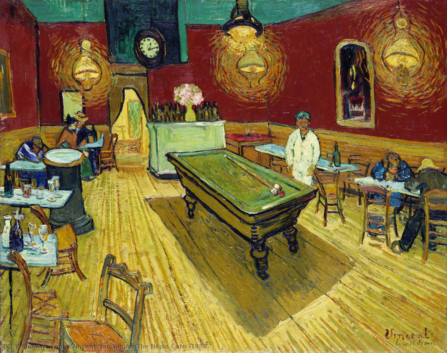 famous painting The Night Cafe [1888] of Vincent Van Gogh