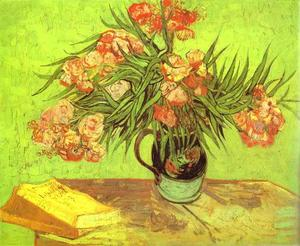 Vincent Van Gogh - Majolica Jar with Branches of Oleander