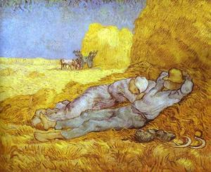 Vincent Van Gogh - Noon Rest (After Millet). Saint-Rémy