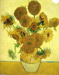 Vincent Van Gogh - Still Life - Vase with Fifteen Sunflowers