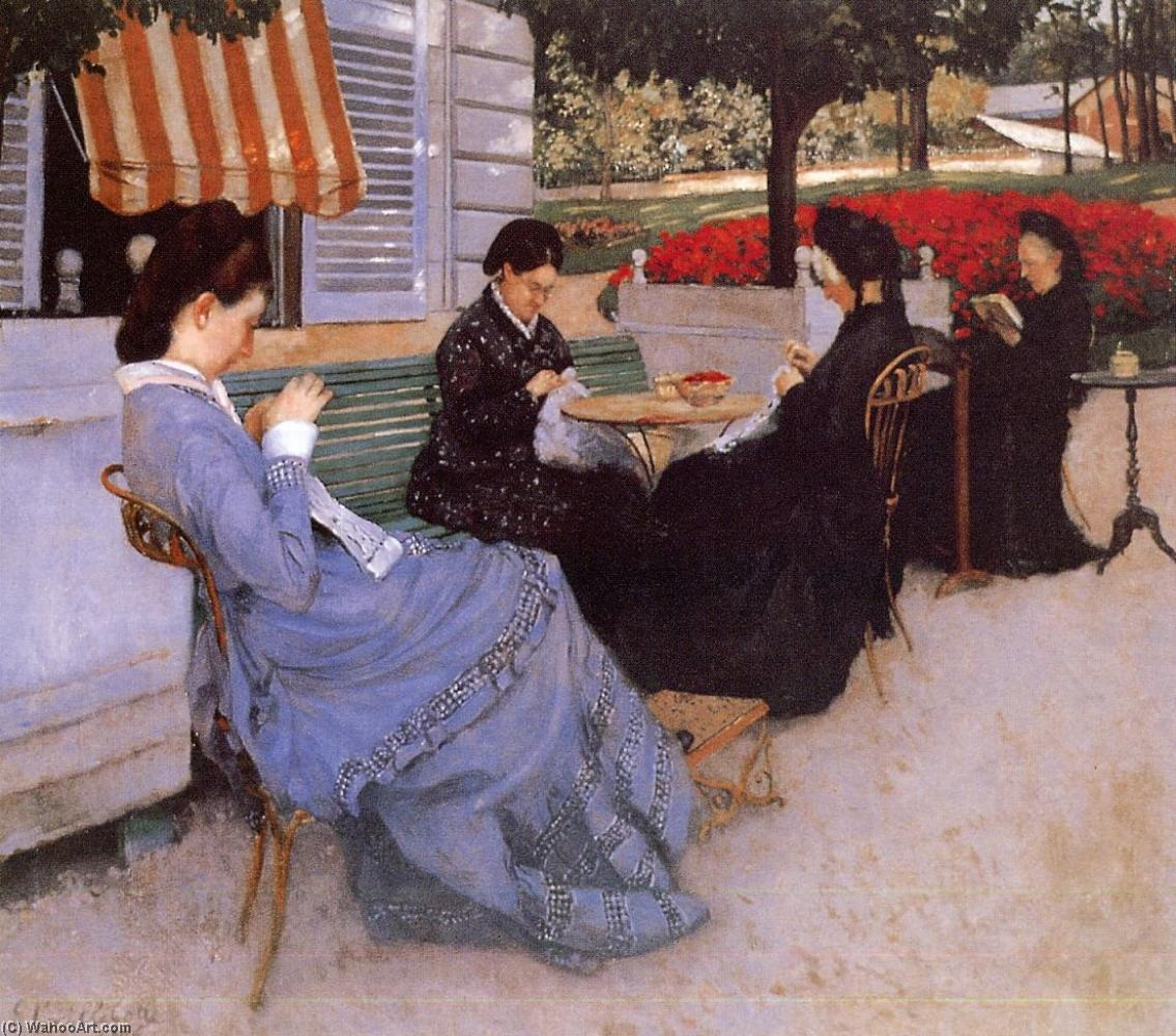 famous painting Portraits in the Countryside of Gustave Caillebotte