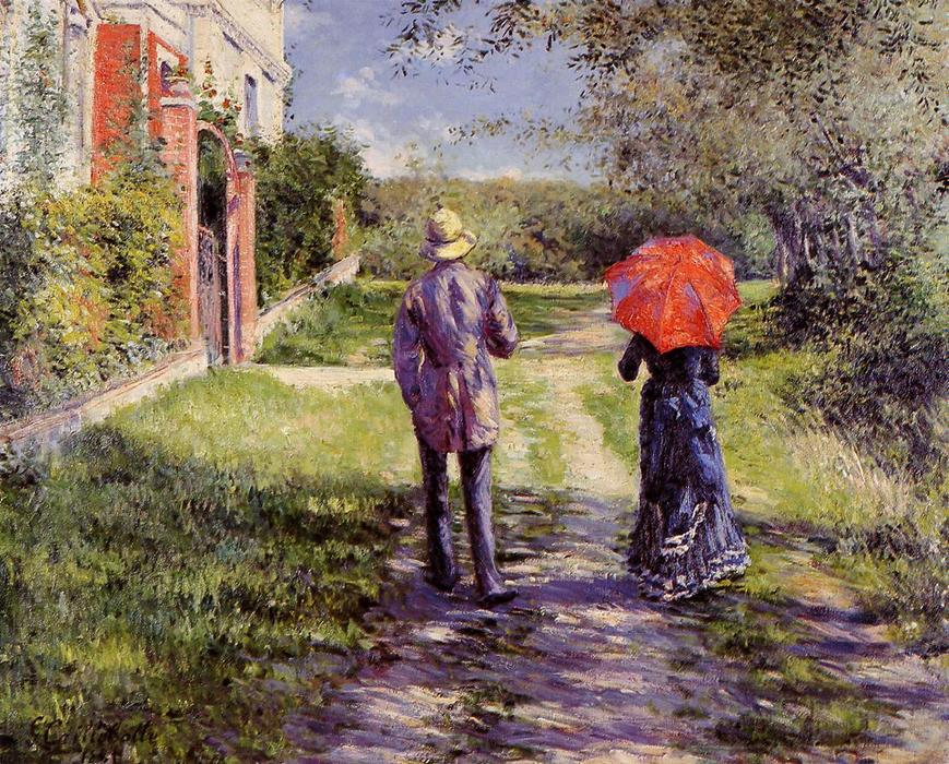 famous painting Rising Road of Gustave Caillebotte