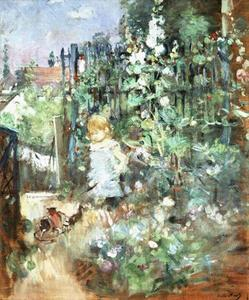 Berthe Morisot - Child among Staked Roses