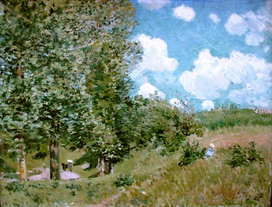 famous painting Road from Versailles to Saint Germain of Alfred Sisley