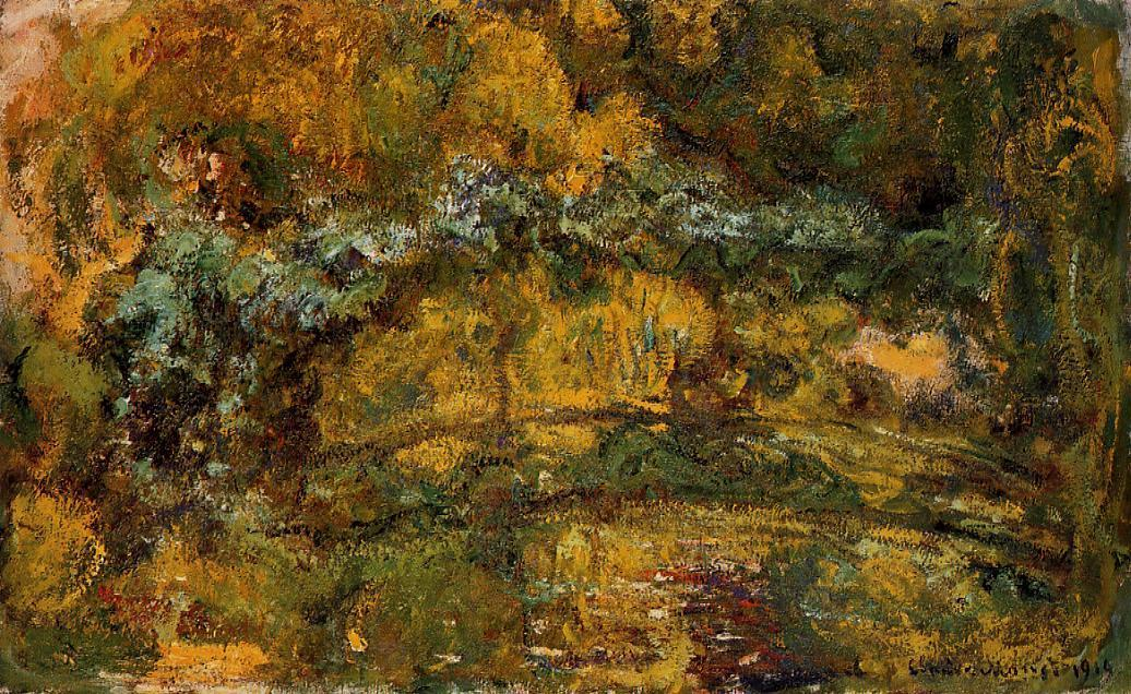 famous painting The Footbridge over the Water-Lily Pone of Claude Monet