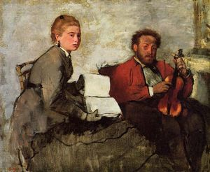 Edgar Degas - Violinist and Young Woman