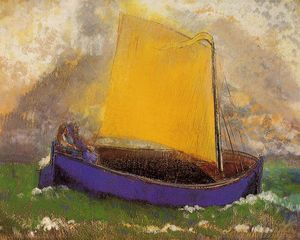 Odilon Redon - The Mysterious Boat 1