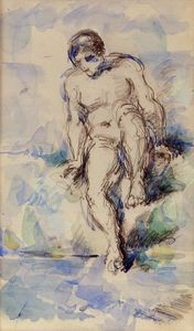Paul Cezanne - Bather Entering the Water