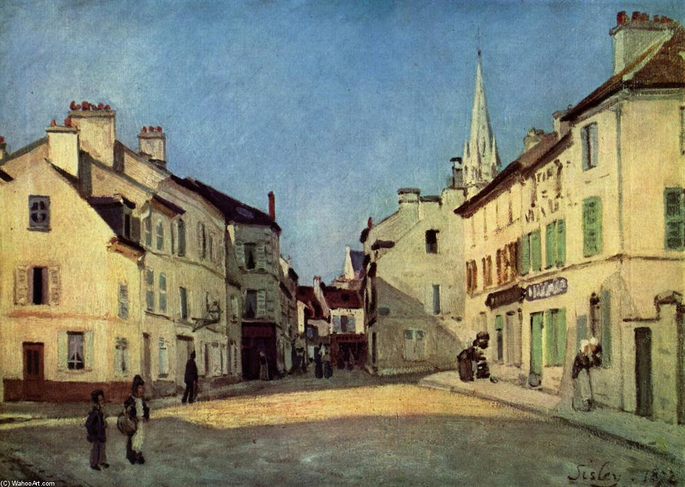 famous painting Platz in Argenteuil of Alfred Sisley