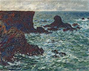 Claude Monet - Rocks at Port Coton, the Lion Rock