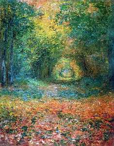 Claude Monet - The Undergrowth in the Forest of Saint-Germain