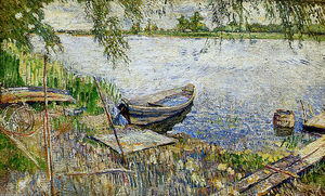 David Davidovich Burliuk - Boat at a shore Sun