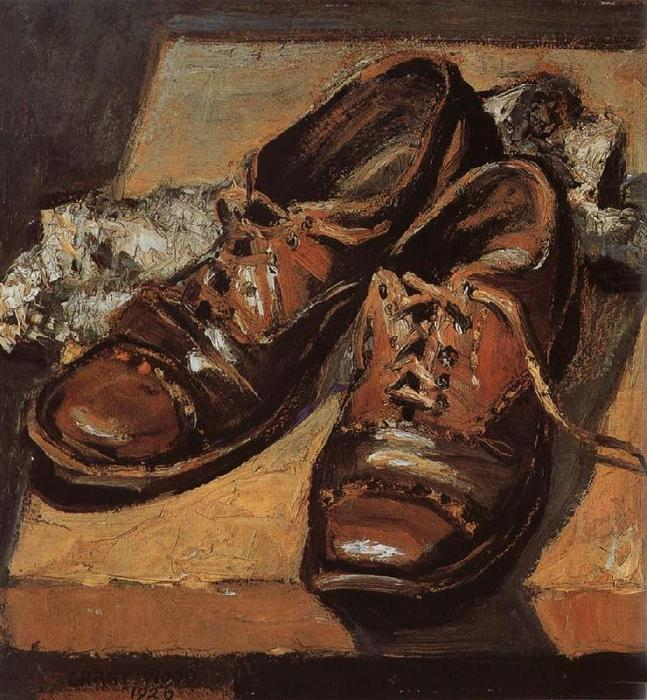famous painting Old shoes of Grant Wood