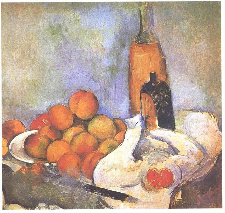 famous painting Still life with bottles and apples of Paul Cezanne