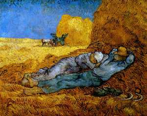 Vincent Van Gogh - Rest Work (after Millet)