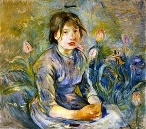 Berthe Morisot - Peasant Girl among Tulips