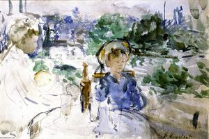 Berthe Morisot - Picnic in the Courtyard