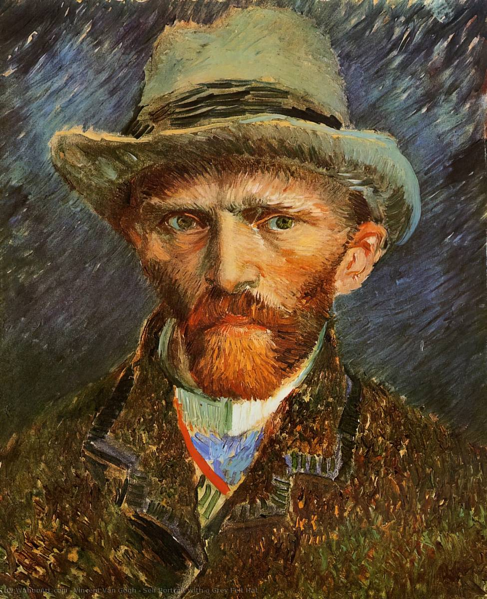 famous painting Self Portrait with a Grey Felt Hat of Vincent Van Gogh