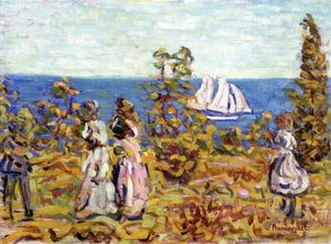 Maurice Brazil Prendergast - Viewing the Sailboat