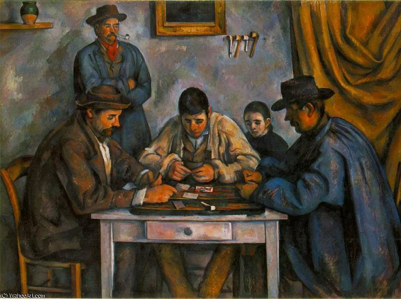 famous painting the card players of Paul Cezanne