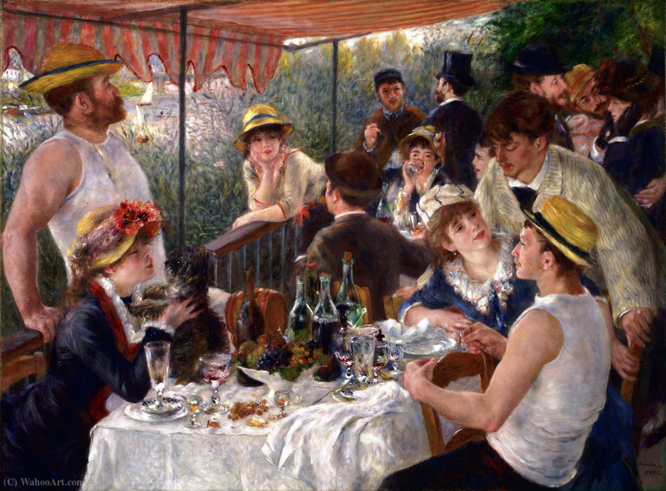 famous painting Luncheon of the Boating Party of Pierre-Auguste Renoir