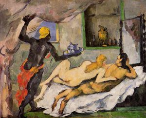 Paul Cezanne - Afternoon on Naples with a Black Servant