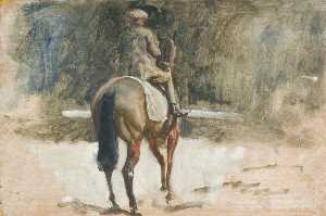 Alfred James Munnings - A Lad Exercising a Racehorse